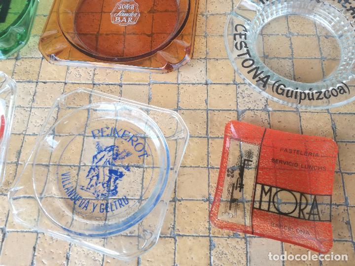 Ceniceros: LOTE 12 CENICEROS ANTIGUOS DE CRISTAL VINTAGE CON PUBLICIDAD DE TIENDAS, BARES, MARCAS ... - Foto 3 - 203499295