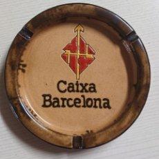 Ceniceros: BONITO CENICERO DE CERÁMICA VINTAGE · LA CAIXA DE BARCELONA · CERÁMICA DE LA BISBAL (GERONA). Lote 204702202