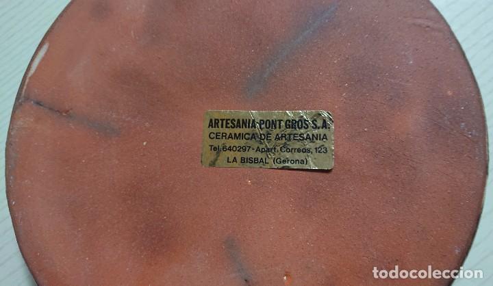 Ceniceros: Bonito CENICERO de CERÁMICA VINTAGE · La Caixa de Barcelona · Cerámica de la Bisbal (Gerona) - Foto 3 - 204702202