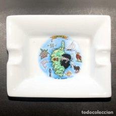 Ceniceros: CENICERO PORCELANA 8X6 CM CORCEGA. Lote 209761255