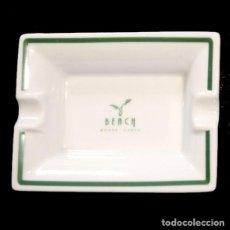 Ceniceros: CENICERO PORCELANA 12 X 8 CM - BEACH HOTEL (MONTE-CARLO). Lote 209794582