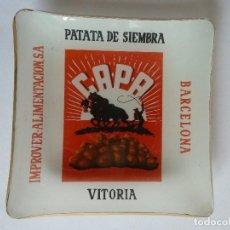 Ceniceros: CENICERO PUBLICITARIO CRISTAL-C.A.P.A-PATATA DE SIEMBRA·VITORIA=IMPROVER(BARCELONA). Lote 210545522