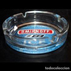 Ceniceros: CENICERO CRISTAL 14 CM - SMIRNOFF. Lote 211460981