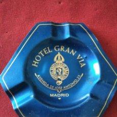 Ceniceros: CENICERO ALUMINIO ANODIZADO HOTEL GRAN VÍA (MADRID). Lote 214272032