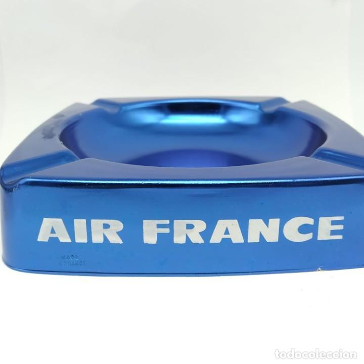 Ceniceros: Antiguo cenicero de aluminio, publicidad de AIR FRANCE - Foto 3 - 218239087