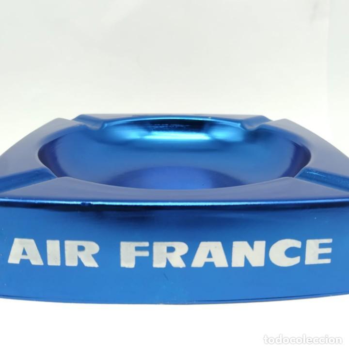 Ceniceros: Antiguo cenicero de aluminio, publicidad de AIR FRANCE - Foto 4 - 218239087