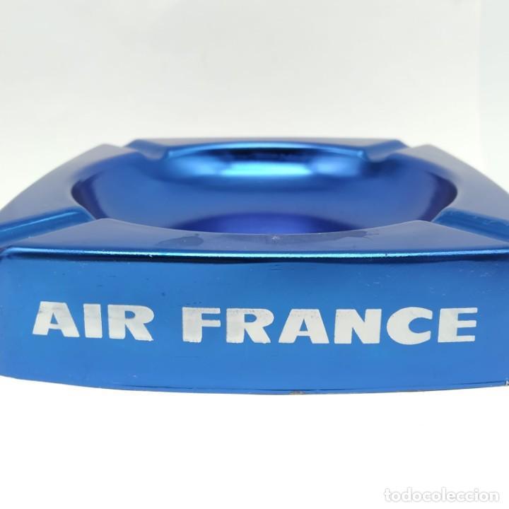 Ceniceros: Antiguo cenicero de aluminio, publicidad de AIR FRANCE - Foto 5 - 218239087