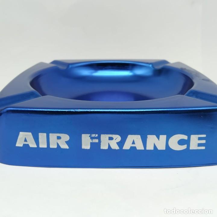 Ceniceros: Antiguo cenicero de aluminio, publicidad de AIR FRANCE - Foto 6 - 218239087