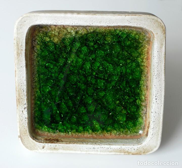 Ceniceros: Cenicero vintage de cerámica y vidrio. Grande y pesado, mide 19 x 19 x 4 cm, pesa 1,5 kg. - Foto 6 - 218395068