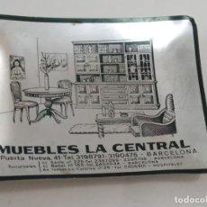 Ceniceros: CENICERO DE ALUMINIO ANODIZADO PUBLICIDAD DE MUEBLES LA CENTRAL BARCELONA. Lote 222119553