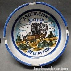 Ceniceros: CENICERO DE CERAMICA ASOCIACION DE ROCIERA BELLAVISTA - CENICERO-84. Lote 222647860