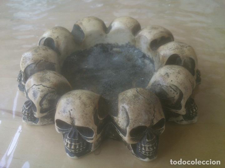 Ceniceros: cenicero 10 calaveras en circulo. Gotico. - Foto 2 - 228988712