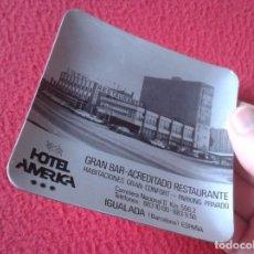 Ceniceros: ANTIGUO CENICERO ASHTRAY CENDRIER HOTEL AMÉRICA IGUALADA BARCELONA ESPAÑA GRAN BAR RESTAURANTE SPAIN. Lote 233965375