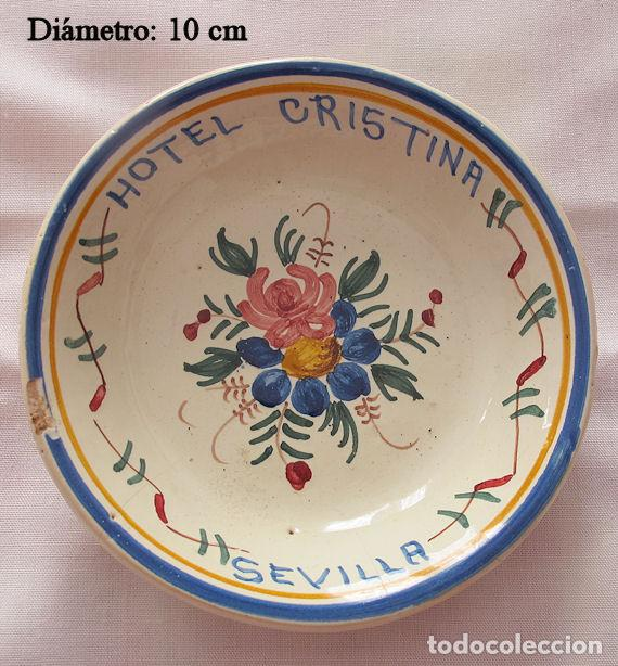 CENICERO VINTAGE HOTEL CRISTINA SEVILLA (Coleccionismo - Objetos para Fumar - Ceniceros)