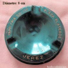 Ceniceros: CENICERO VINTAGE PAPELRÍA SALIDO JEREZ CADIZ. Lote 236763975