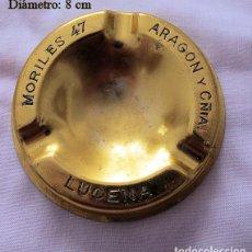 Ceniceros: CENICERO VINTAGE ARAGON Y COMPAÑÍA LUCENA MORILES. Lote 236764550