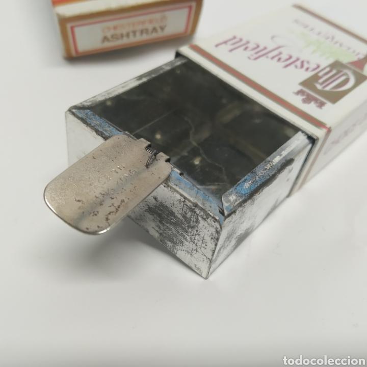 Ceniceros: Pequeño cenicero de viaje - bolsillo promocional CHESTERFIELD, años 70 - 80, nuevo a estrenar - Foto 2 - 249289625