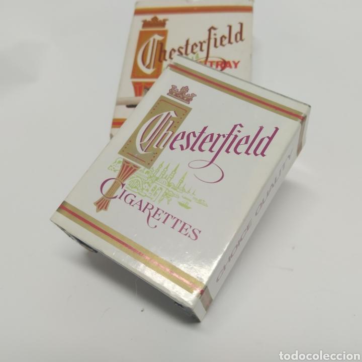 Ceniceros: Pequeño cenicero de viaje - bolsillo promocional CHESTERFIELD, años 70 - 80, nuevo a estrenar - Foto 3 - 249289625
