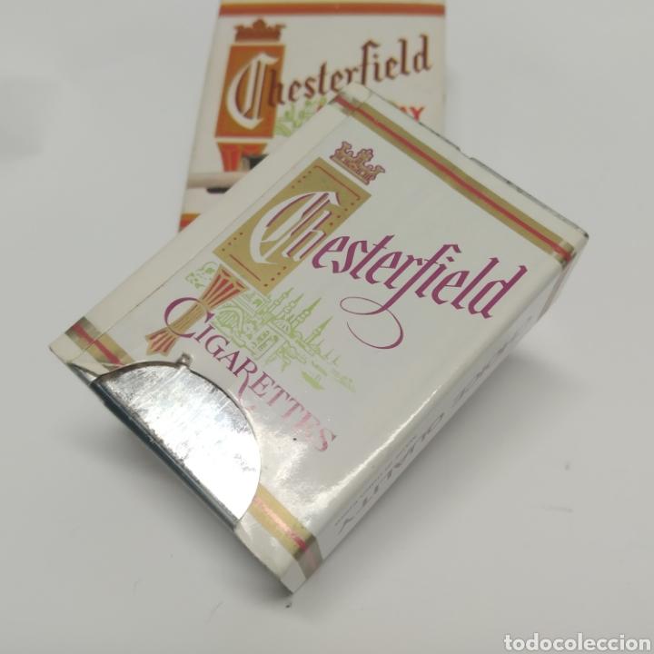Ceniceros: Pequeño cenicero de viaje - bolsillo promocional CHESTERFIELD, años 70 - 80, nuevo a estrenar - Foto 4 - 249289625