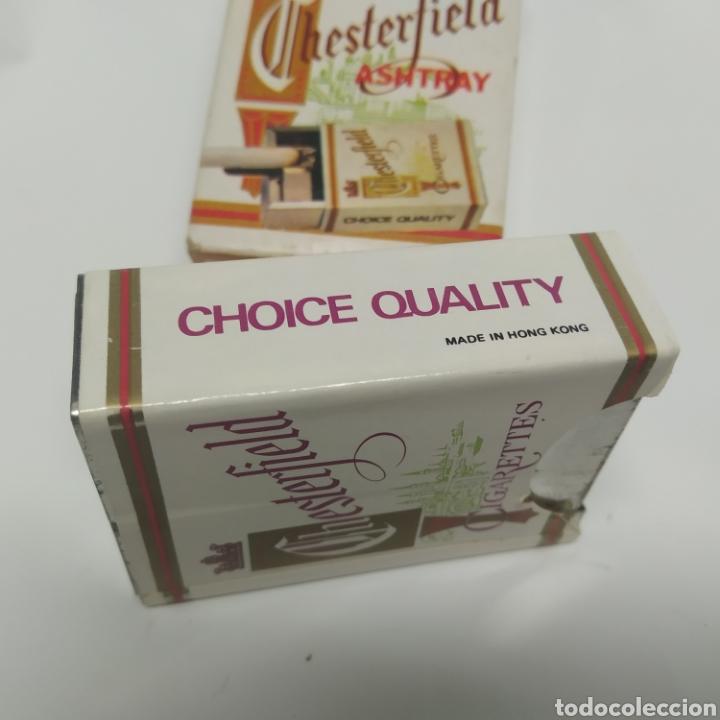 Ceniceros: Pequeño cenicero de viaje - bolsillo promocional CHESTERFIELD, años 70 - 80, nuevo a estrenar - Foto 5 - 249289625
