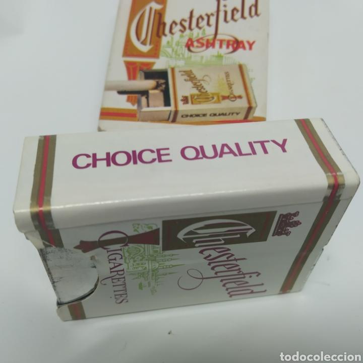 Ceniceros: Pequeño cenicero de viaje - bolsillo promocional CHESTERFIELD, años 70 - 80, nuevo a estrenar - Foto 6 - 249289625