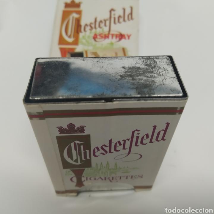 Ceniceros: Pequeño cenicero de viaje - bolsillo promocional CHESTERFIELD, años 70 - 80, nuevo a estrenar - Foto 7 - 249289625