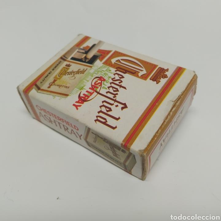 Ceniceros: Pequeño cenicero de viaje - bolsillo promocional CHESTERFIELD, años 70 - 80, nuevo a estrenar - Foto 12 - 249289625
