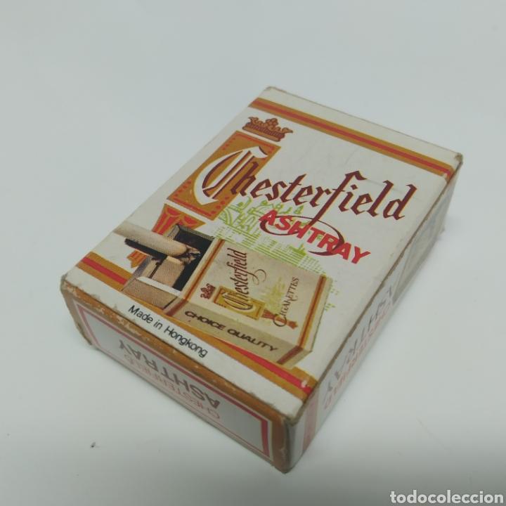Ceniceros: Pequeño cenicero de viaje - bolsillo promocional CHESTERFIELD, años 70 - 80, nuevo a estrenar - Foto 13 - 249289625