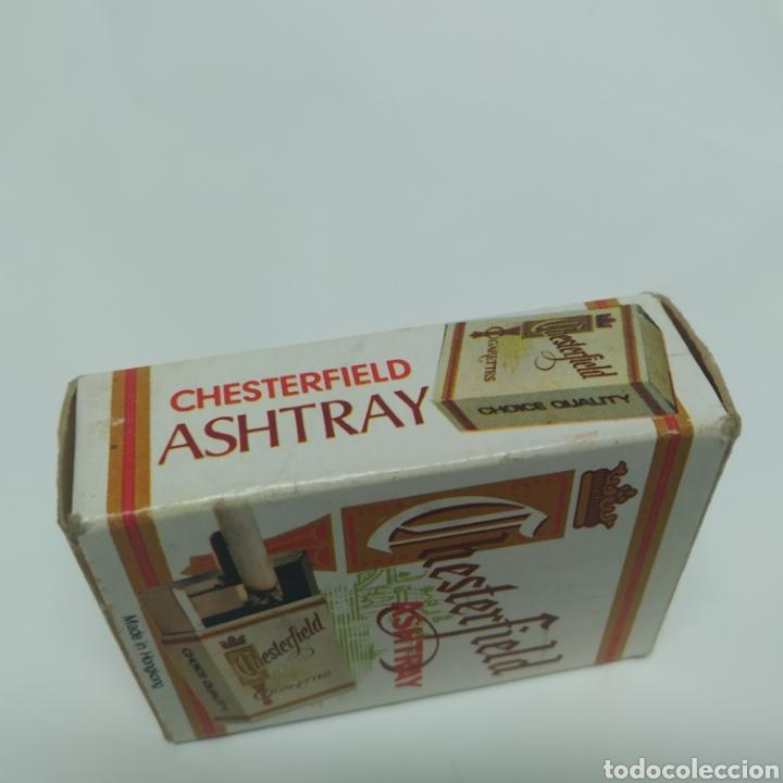 Ceniceros: Pequeño cenicero de viaje - bolsillo promocional CHESTERFIELD, años 70 - 80, nuevo a estrenar - Foto 15 - 249289625