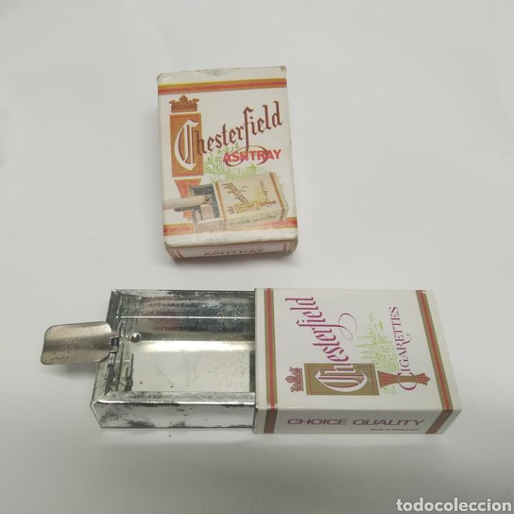 PEQUEÑO CENICERO DE VIAJE - BOLSILLO PROMOCIONAL CHESTERFIELD, AÑOS 70 - 80, NUEVO A ESTRENAR (Coleccionismo - Objetos para Fumar - Ceniceros)