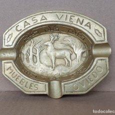 Ceniceros: CENICERO EN BRONCE DE CASA VIENA, OVIEDO. Lote 252707700