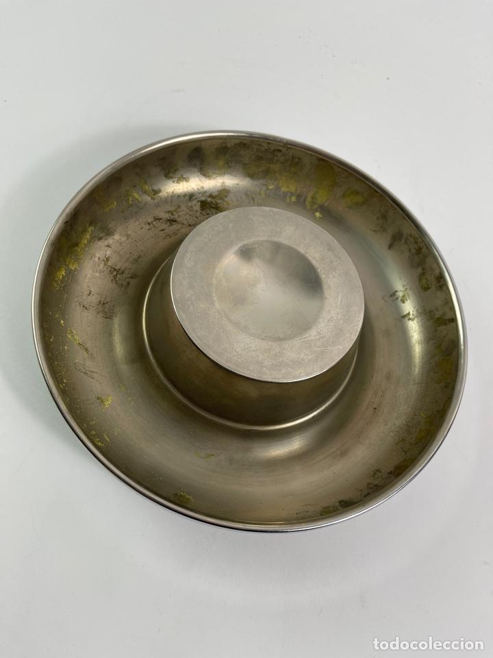 Ceniceros: CENICERO DE METAL PLATEADO. AÑOS 70. - Foto 3 - 259756100