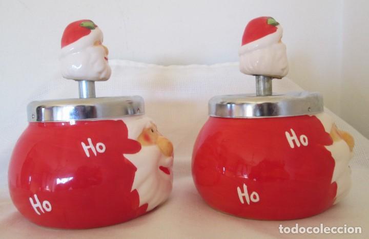 Ceniceros: Pareja de ceniceros con motivo navideño, en cerámica y metal. - Foto 5 - 261113985