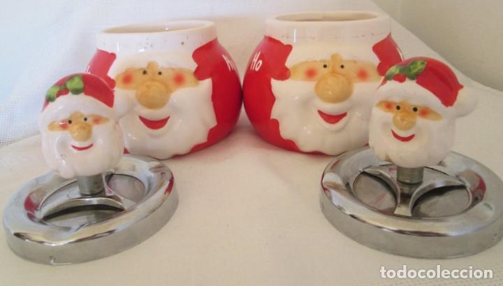 Ceniceros: Pareja de ceniceros con motivo navideño, en cerámica y metal. - Foto 6 - 261113985