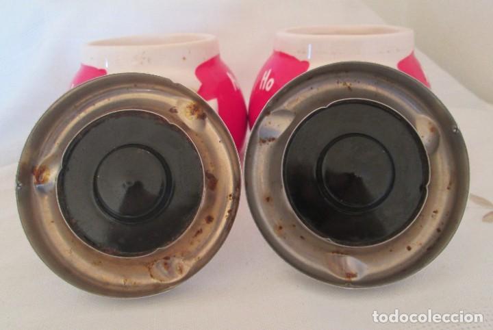 Ceniceros: Pareja de ceniceros con motivo navideño, en cerámica y metal. - Foto 8 - 261113985