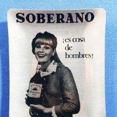 Ceniceros: CENICERO ALUMINIO AÑOS 60 SOBERANO ¡ES COSA DE HOMBRES! GONZALEZ BYAS, NUEVO SIN USAR, VINTAGE. Lote 264328400