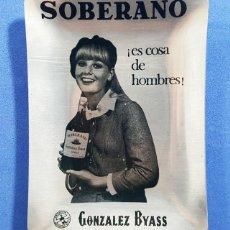 Ceniceros: CENICERO ALUMINIO AÑOS 60 SOBERANO ¡ES COSA DE HOMBRES! GONZALEZ BYAS, NUEVO SIN USAR, VINTAGE. Lote 264328460