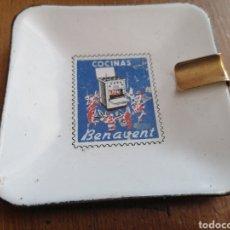 Ceniceros: ANTIGUO CENICERO DE LOZA ESMALTADA COCINAS BENAVENT. Lote 267805114