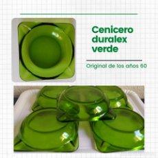 Ceniceros: CENICERO DURALEX VERDE. Lote 267832784