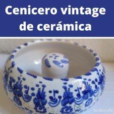 Ceniceros: CENICERO VINTAGE DE CERÁMICA. Lote 268312724