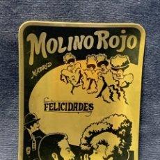 Ceniceros: CENICERO ALUMINIO MOLINO ROJO MADRID FELICIDADES 11X8CMS. Lote 270946553