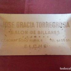 Ceniceros: ELCHE.SALON DE BILLARES.JOSE GRACIA TORREGROSA.VINTAGE CENICERO.. Lote 278171838
