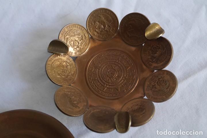Ceniceros: 2 ceniceros de cobre México, calendario Azteca - Foto 4 - 278421173