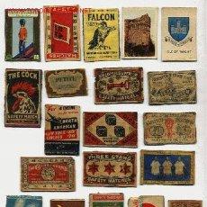 Cajas de Cerillas: LOTE DE 20 FRONTALES DE CAJAS DE CERILLAS. Lote 8469451