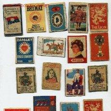 Cajas de Cerillas: LOTE DE 17 FRONTALES DE CAJAS DE CERILLAS. Lote 12357182