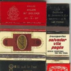 Cajas de Cerillas: LOTE 10 CAJAS CERILLAS TEMAS DIVERSOS. Lote 505994