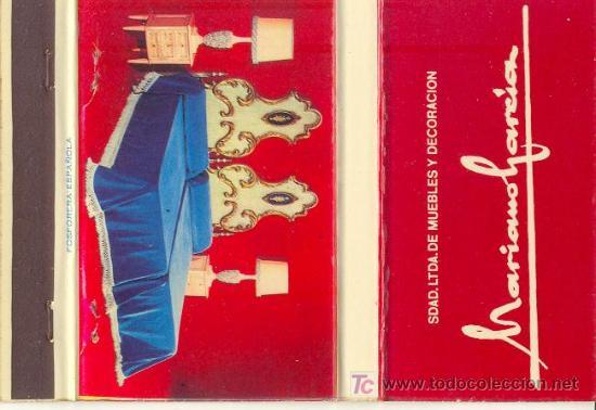 Muebles mariano garcia valencia comprar cajas de cerillas antiguas y de colecci n en - Muebles mariano ...