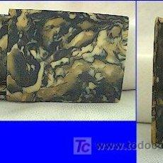 Cajas de Cerillas: CAJA DE CERILLAS DE BAQUELITA DE VERDE GRIS ANTIGUA. Lote 21102733