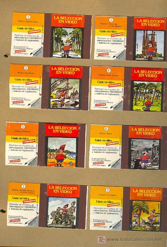 COLECCION DE CAJAS DE CERILLAS DE LA SELECCION EN VIDEO. (Coleccionismo - Objetos para Fumar - Cajas de Cerillas)