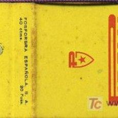 Cajas de Cerillas: CERILLAS - PIRELLI. Lote 5883882